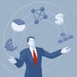 Geschäftsman, Business, Management, Erfolg - Illustration