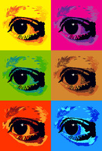 pop art poster with eyes