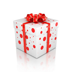 3d Gift Box isolated on white background