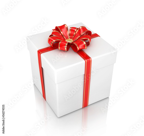 gift box isolated on white background 3d illustration