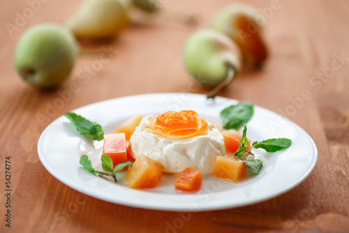 Fruit Panna Cotta