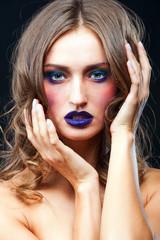 Beauty portrait of a sensual Caucasian woman