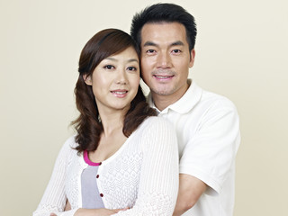 portrait of a young asian couple