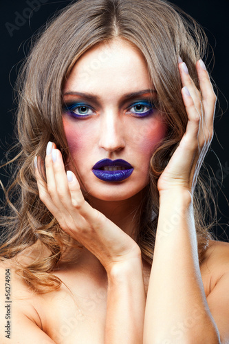 Beauty portrait of a sensual Caucasian woman