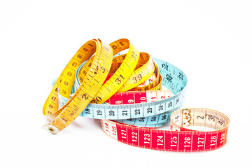 Three Colorful Tape Measures