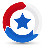 circular design process icon - US 4th of July - Independence Day