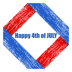 grunge - US 4th of July - Independence Day Vector Design