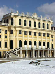 Vienna,Schonbrunn castle in winter