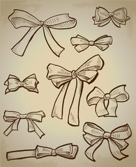 Vector collection of bows