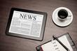 News on digital tablet. - 56275995