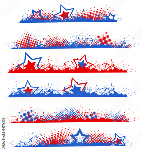 grunge edges - Patriotic USA theme Vector