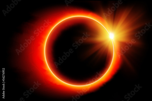 Eclipse of the sun illustration