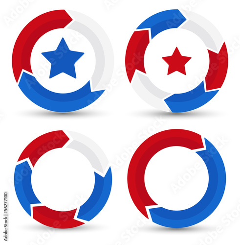 circle - Patriotic USA theme Vector
