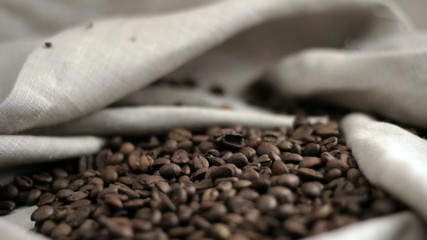 Coffee beans. Moving Camera.
