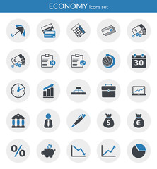Icons about economy