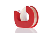Clear tape dispenser isolated on a white background