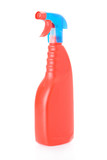 detergent spray bottle isolated on white background.