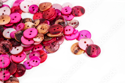 Pink and red buttons