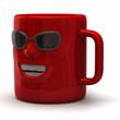 Fun red mug