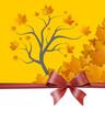Herbst Laubbaum Schleife