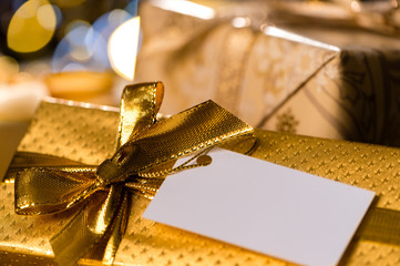 Christmas Gifts with blank label