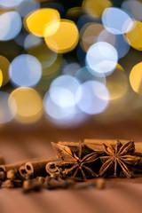 Christmas spices clove, star anise and cinnamon