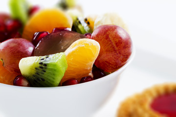 Diet, healthy breakfast , weight loss - fruit salad