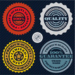 Guarantee stamp set. Premium quality guarantee sign.
