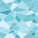 Vector seamless geometric blue polygonal pattern - abstract back