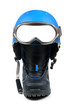 snowboard equipment - boot, helmet and ski goggles