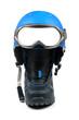 snowboard equipment - boot, helmet and ski goggles