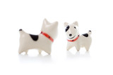 Dog Figurine on White Background