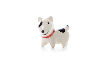 Dog Figurine on White Background