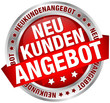 "Button Banner ""Neukundenangebot"" rot/silber"