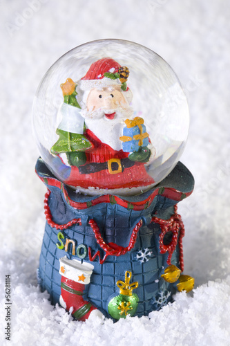 Christmas decoration globe with Santa Claus