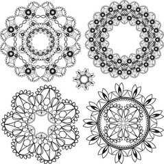 delicate lacy round patterns