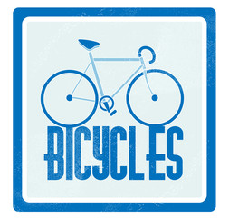 Vector illustration of a blue bicycle