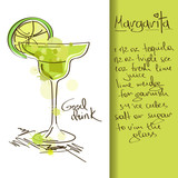 Illustration with Margarita cocktail