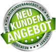 """Button Banner """"Neukundenangebot"""" grün/silber"""