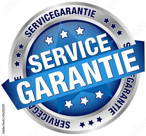 """Button Banner """"Servicegarantie"""" blau/silber"""