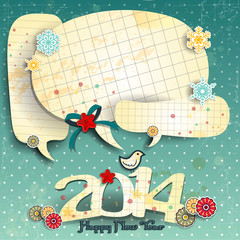 2014 blue polka dot background