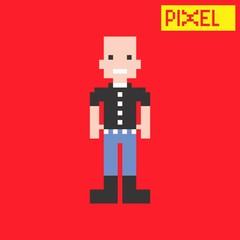 bald pixel guy