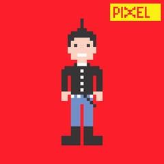 punk guy pixel