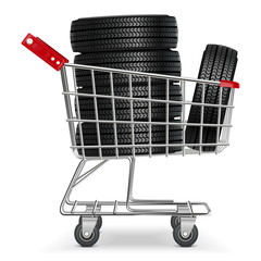 Vector Trolley with Tires
