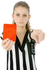 Referee zeigt Rote Karte