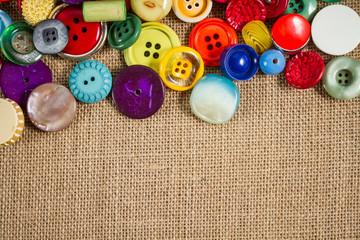 Vintage buttons frame