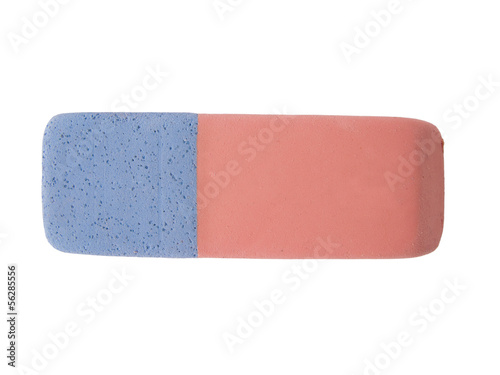 Eraser isolated on a white background.