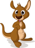 cute baby kangaroo cartoon
