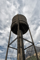 old railroad water tower