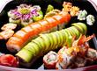 Sushi rolls.